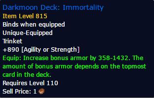 Darkmoon Deck Immortality Craft