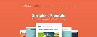 Nimble wordpress tema företag