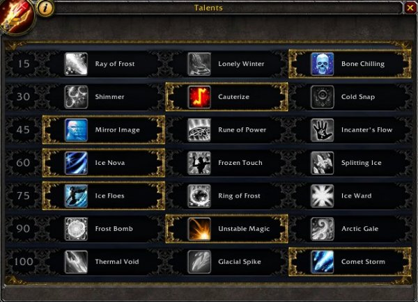 Frost Mage Legion Talent Spec And Rotation World Of Warcraft Gameplay Guides